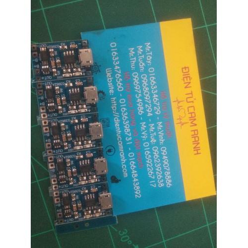 Mạch sạc pin TP4056 có IC bảo vệ - 7928401 , 17577216 , 15_17577216 , 10000 , Mach-sac-pin-TP4056-co-IC-bao-ve-15_17577216 , sendo.vn , Mạch sạc pin TP4056 có IC bảo vệ