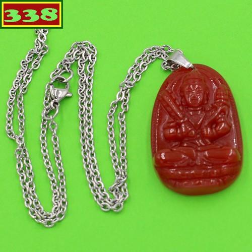 Vòng cổ Hư Không Tạng bồ tát thạch anh đỏ 3.6 cm DITTOB6 - Hộ mệnh người tuổi Sửu, Dần
