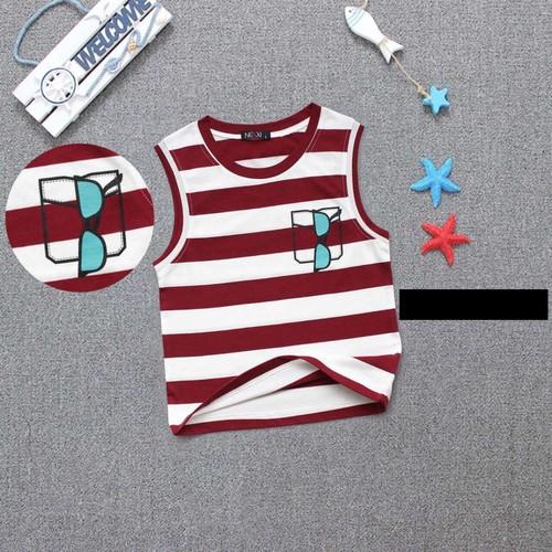 Áo ba lỗ bé trai sọc đỏ 011244