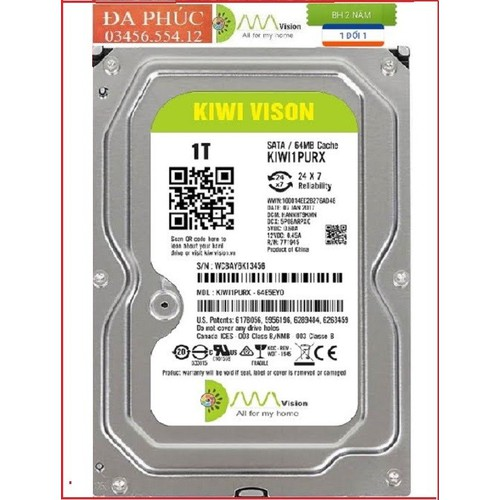 [Ổ cứng HDD Kiwivision 1TB ]chuyên dùng cho camera,ổ cứng camera,ổ cứng di động western,o cung di dong 1T,ổ cứng hdd 1T,o cung western,ổ cứng di động, ổ cứng laptop,ổ cứng HDD laptop, tại ĐA PHÚC