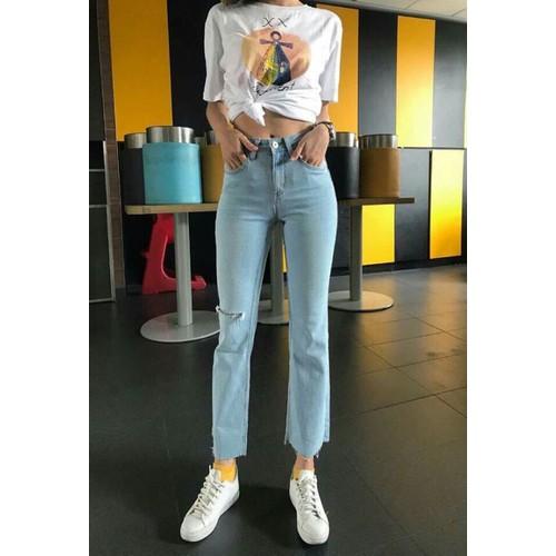 quần jaen nữ ống rộng