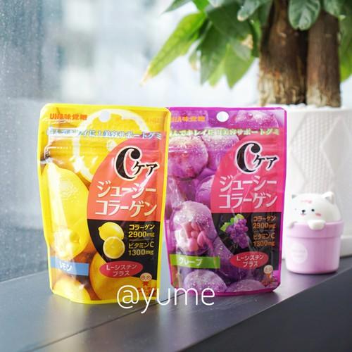 Combo 2 gói Kẹo Collagen bổ sung Vitamin C UHA Nhật Bản vị Chanh và Nho