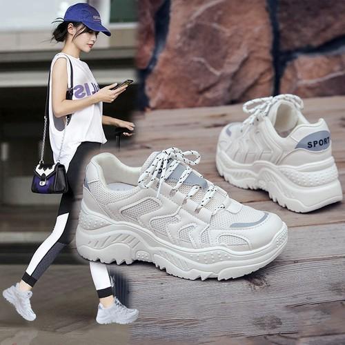 Giày thể thao full trắng phong cách 2019