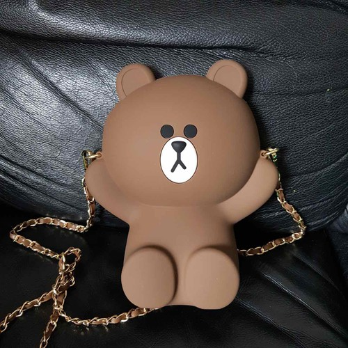 Túi đeo chéo gấu brown nâu line friend - 7942578 , 17600805 , 15_17600805 , 290000 , Tui-deo-cheo-gau-brown-nau-line-friend-15_17600805 , sendo.vn , Túi đeo chéo gấu brown nâu line friend