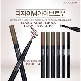Chì Kẻ Mày Ngang Thefaceshop - Designing Eyebrow Pencil Crayon À Sourcils -1 Cây - Chì Mày Thefacshop