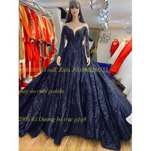 áo cưới xanh đen ren kim sa tay dài - 7941902 , 17599792 , 15_17599792 , 7500000 , ao-cuoi-xanh-den-ren-kim-sa-tay-dai-15_17599792 , sendo.vn , áo cưới xanh đen ren kim sa tay dài