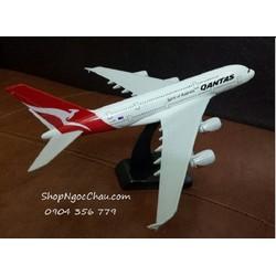 MÔ HÌNH MÁY BAY TĨNH AIRBUS A380 QANTAS AIRLINES 20CM