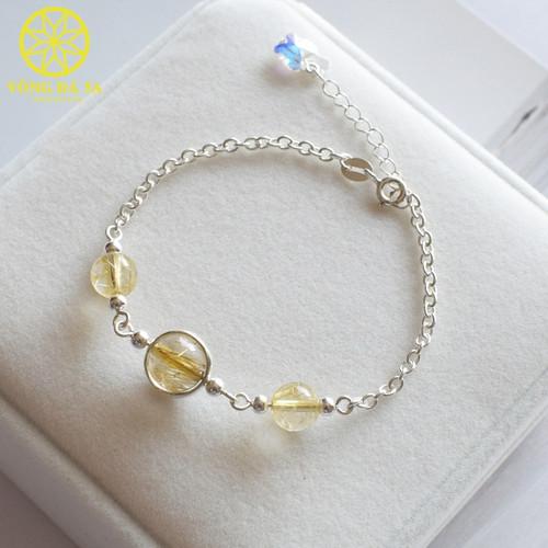 Lắc tay bạc đính đá thạch anh tóc vàng tự nhiên sang trọng cho nữ - 7949604 , 17612734 , 15_17612734 , 349000 , Lac-tay-bac-dinh-da-thach-anh-toc-vang-tu-nhien-sang-trong-cho-nu-15_17612734 , sendo.vn , Lắc tay bạc đính đá thạch anh tóc vàng tự nhiên sang trọng cho nữ