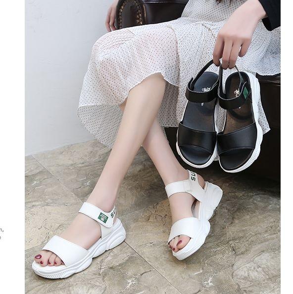 Giày sandal bánh mì sneaker đế gấu Mos.chi.no |Giày sandal bánh mì nữ 5