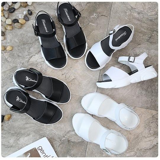 Giày sandal bánh mì sneaker đế gấu Mos.chi.no |Giày sandal bánh mì nữ 8