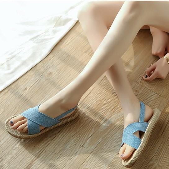 Giày sandal giả cối quai chéo  Giày sandal thời trang nữ 2