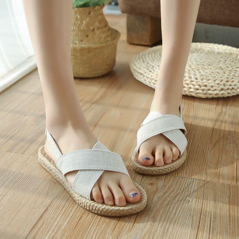 Giày sandal giả cối quai chéo  Giày sandal thời trang nữ 5