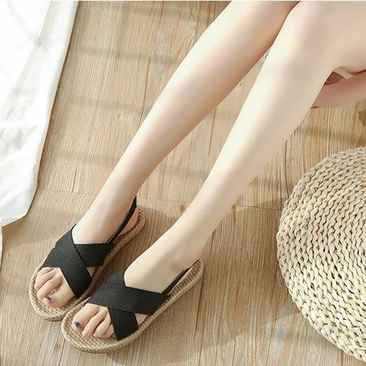 Giày sandal giả cối quai chéo  Giày sandal thời trang nữ 3