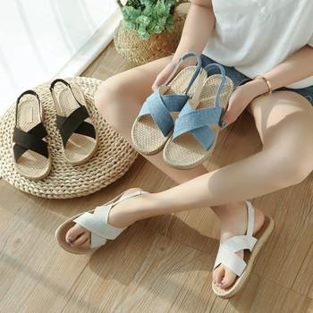Giày sandal giả cối quai chéo  Giày sandal thời trang nữ