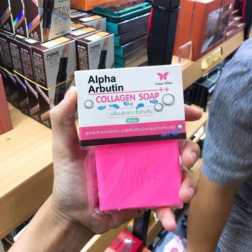 Xà phòng kích trắng Alpha Arbutin Collagen 150g Thái