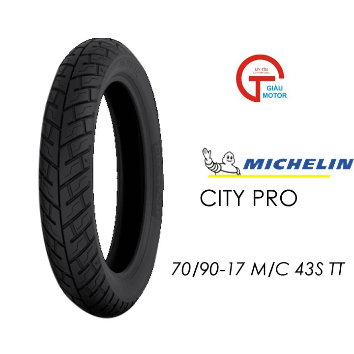 Lốp MICHELIN 70.90-17 CITY PRO MC TT 43S Vỏ xe máy MICHELIN size 70.90-17 CITY PRO MC TT 43S Việt Nam, giá rẻ, uy tín 1