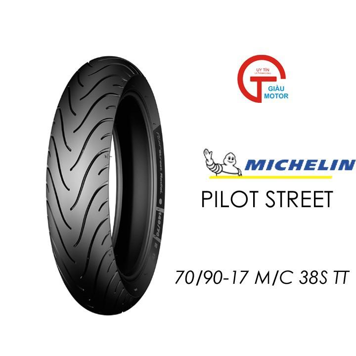 Lốp MICHELIN 70.90-17 PILOT STREET MC TT 38S Vỏ xe máy MICHELIN size 70.90-17 PILOT STREET MC TT 38S  Việt Nam, giá rẻ, uy tín 1