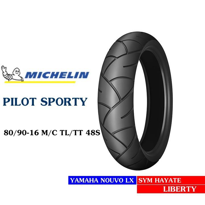 Lốp MICHELIN 80.90-16 PILOT SPORTY MC TL 48S Vỏ xe máy MICHELIN size 80.90-16 PILOT SPORTY MC TL 48S  Việt Nam, giá rẻ, uy tín 1
