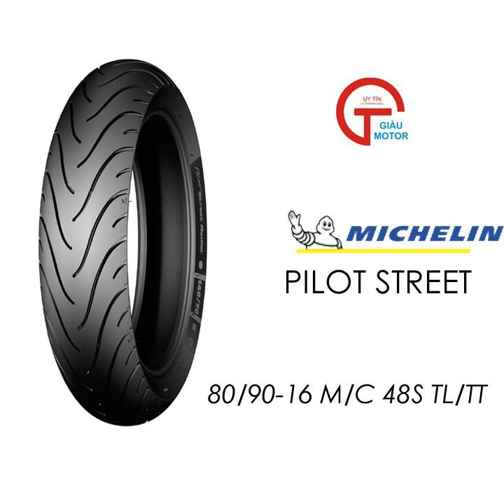 Lốp MICHELIN 80.90-16 PILOT STREET MC TL 48S Vỏ xe máy MICHELIN size 80.90-16 PILOT STREET MC TL 48S  Việt Nam, giá rẻ, uy tín 1