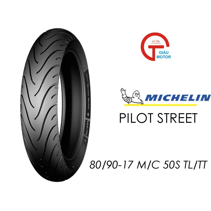Lốp MICHELIN 80.90-17 PILOT STREET MC TL 50S Vỏ xe máy MICHELIN size 80.90-17 PILOT STREET MC TL 50S   Việt Nam, giá rẻ, uy tín 1
