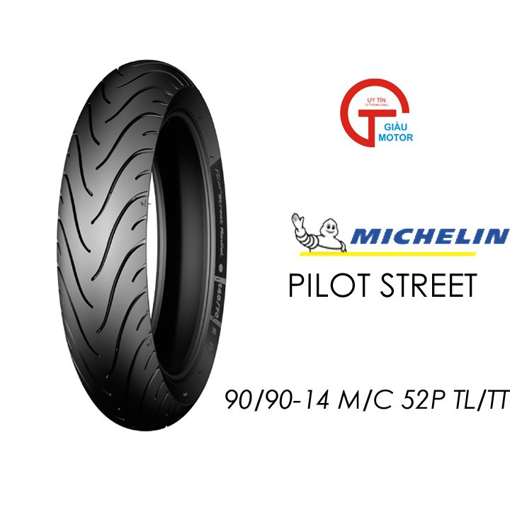 Lốp MICHELIN 90.90-14 PILOT STREET MC TL 52P   Vỏ xe máy MICHELIN size 90.90-14 PILOT STREET MC TL 52P  Việt Nam, giá rẻ, uy tín 1