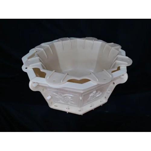 Khuôn đổ chậu cảnh 8 cạnh rộng 55cm cao 30cm chất liệu nhựa abs