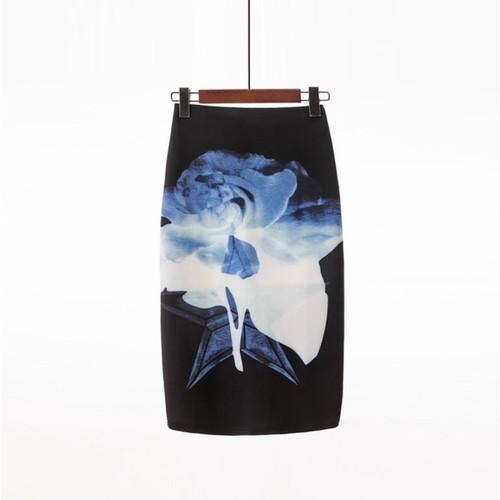 Chân váy bút chì in hoa văn 3d nhiều mẫu đẹp lạ mắt