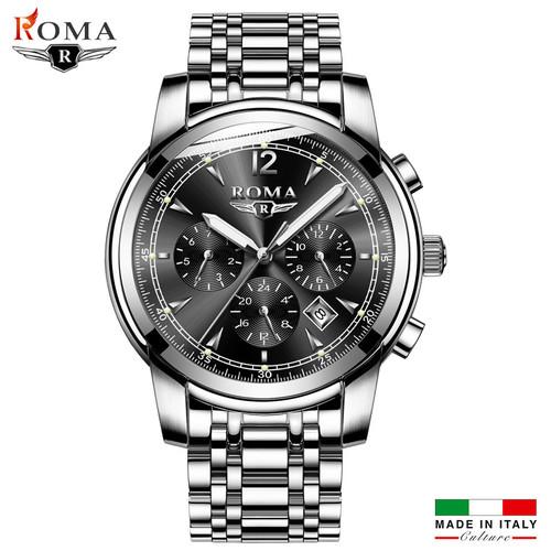 Đồng hồ Nam ROMA BASKY ITALY 9901 Kính Tráng Sapphire Full Kim – Dây thép đúc đặt cao cấp