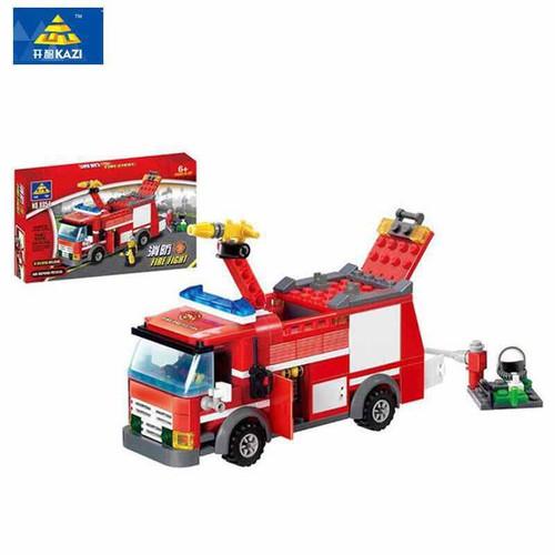 đồ chơi lắp ráp mô hình xe cứu hỏa KaZi
