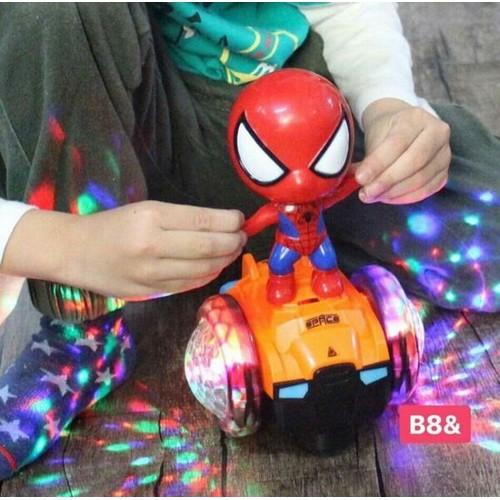 người nhện xoay đồ chơi siêu nhân