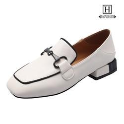 Giày lười nữ đế vuông 2 trong 1