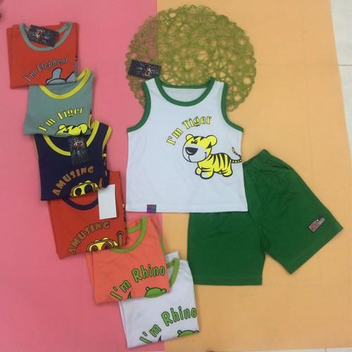 Combo 3 Bộ quần áo trẻ em ba lỗ - borip bé trai nhiều màu