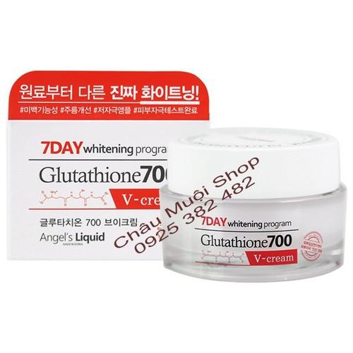 Kem Dưỡng Trắng Da, Cải Thiện Nếp Nhăn, Tăng Đàn Hồi Da -7 Day Whitening Program Glutathione 700