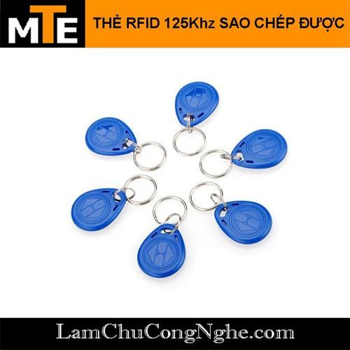 Thẻ RFID 125Khz dạng móc khóa sao chép được T5577