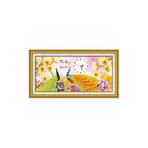 Tranh thêu chữ thập DH Hoa Khai Phú Quy 88953 kt 69x36cm