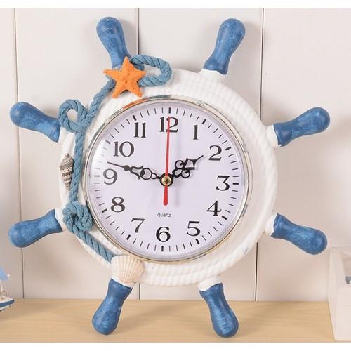 Đồng hồ để bàn hình Clock thủy thủ lái tàu có báo thức hẹn giờ