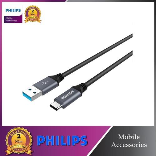 Cáp sạc USB type C siêu bền Philips DLC4530AB - 7586906 , 17627993 , 15_17627993 , 285000 , Cap-sac-USB-type-C-sieu-ben-Philips-DLC4530AB-15_17627993 , sendo.vn , Cáp sạc USB type C siêu bền Philips DLC4530AB