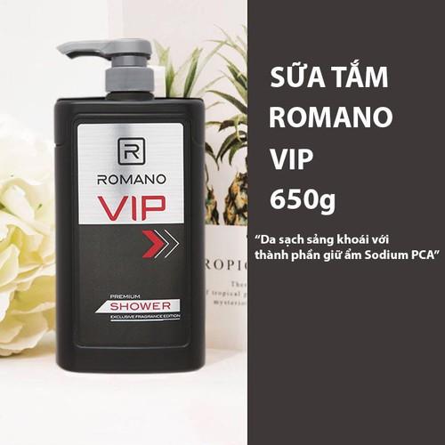 Sữa tắm Romano Vip Dưỡng ẩm 650g
