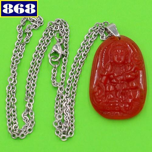 Dây chuyền Phổ Hiền Bồ Tát 3.6 đỏ DITTOB2