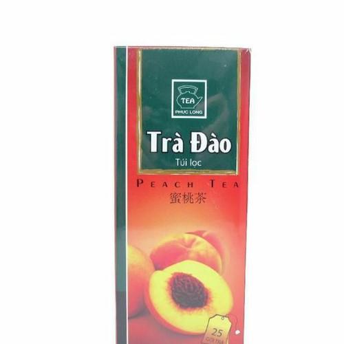combo 5 hộp trà đào túi lọc phúc long