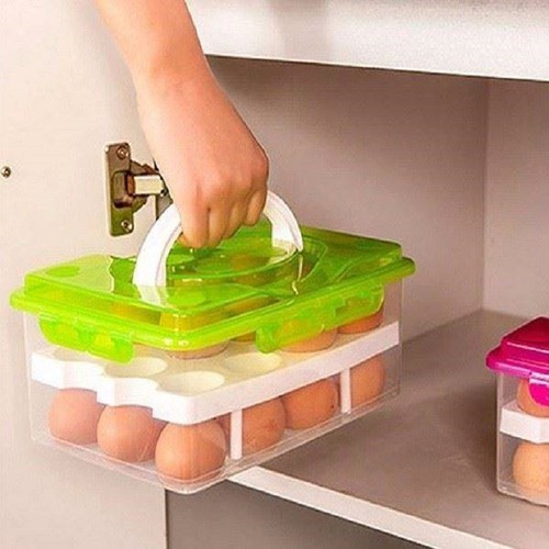 Hộp Đựng 24 Trứng Gà, 2 Tầng, Bằng Nhựa, Có Quai Xách, Dùng Bảo Quản Trứng Trong Tủ Lạnh - 7968096 , 17637156 , 15_17637156 , 79000 , Hop-Dung-24-Trung-Ga-2-Tang-Bang-Nhua-Co-Quai-Xach-Dung-Bao-Quan-Trung-Trong-Tu-Lanh-15_17637156 , sendo.vn , Hộp Đựng 24 Trứng Gà, 2 Tầng, Bằng Nhựa, Có Quai Xách, Dùng Bảo Quản Trứng Trong Tủ Lạnh