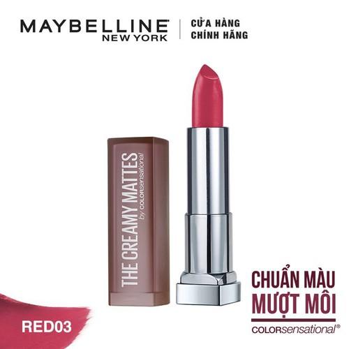 Son Lì Siêu Nhẹ Môi Maybelline Powder Matte 3.9g - Do 3 Cherry Chic - Tặng kèm 1 cây son L