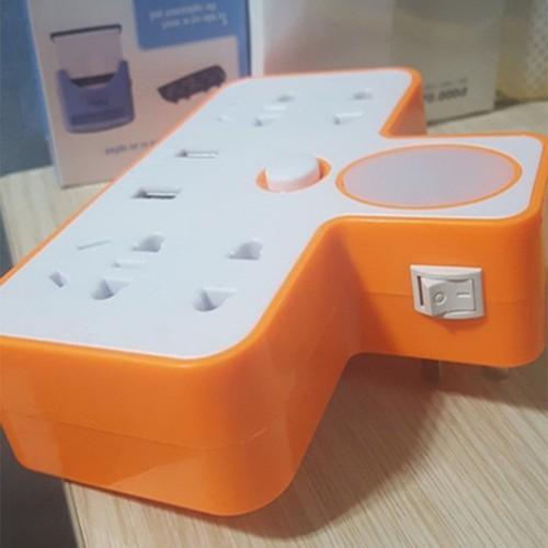 Bộ chia ổ điện 2 cổng USB 4 ổ cắm điện có đèn ngủ - 4708756 , 17628121 , 15_17628121 , 101000 , Bo-chia-o-dien-2-cong-USB-4-o-cam-dien-co-den-ngu-15_17628121 , sendo.vn , Bộ chia ổ điện 2 cổng USB 4 ổ cắm điện có đèn ngủ