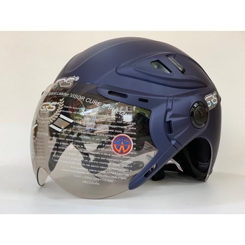 Mũ Bảo Hiểm GRS A966 2 Kính Xanh Tím Than