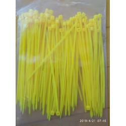 dây rút chân gà - rộng 2-3mm dài 100mm-vàng