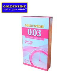 Bao cao su Goldentime 0.03 Siêu Mỏng Kéo dài Hộp 12 bao