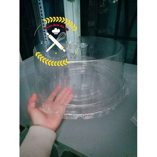 Set 5 hộp nhựa tròn trong suốt 30cm