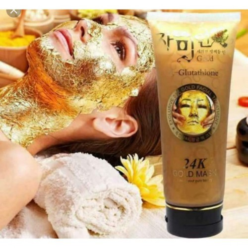 Mặt nạ vàng 24k tuýp Gold mask 220g - Mặt nạ gel lột tinh chất vàng trắng da