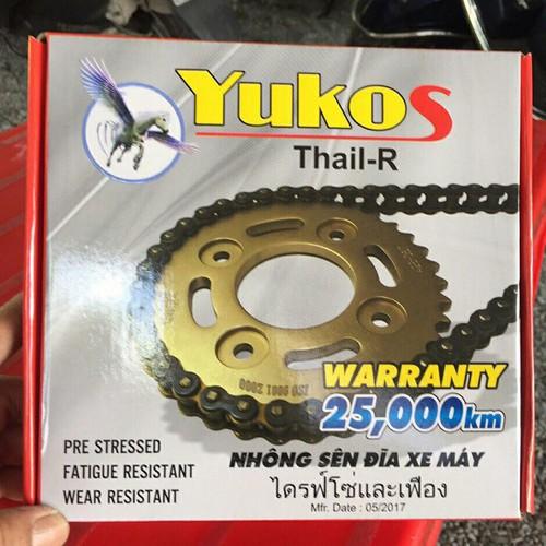 Bộ nhông sên dĩa xe Sirius  Yukos Thai-r chính hãng - 7963954 , 17630415 , 15_17630415 , 325000 , Bo-nhong-sen-dia-xe-Sirius-Yukos-Thai-r-chinh-hang-15_17630415 , sendo.vn , Bộ nhông sên dĩa xe Sirius  Yukos Thai-r chính hãng