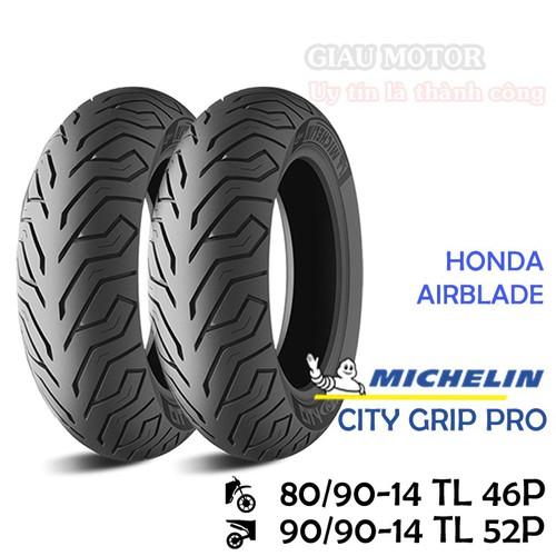 Cặp vỏ xe Michelin size 80.90-14 TL 46P và 90-90.14 TL 52P CITY PRO GRIPO Việt Nam, giá rẻ, uy tín